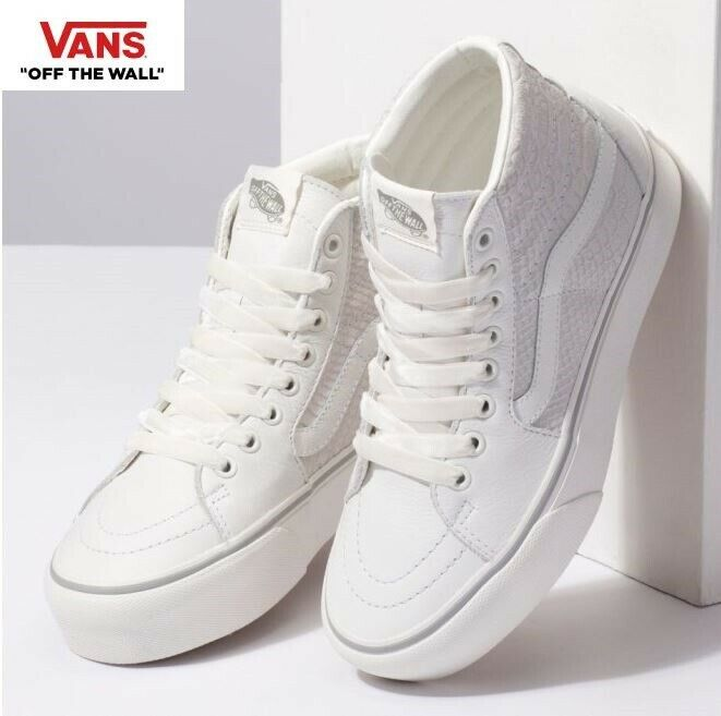 Vans Old Skool Platform Snake White Sk8-Hi Fashion Sneakers,shoes Women