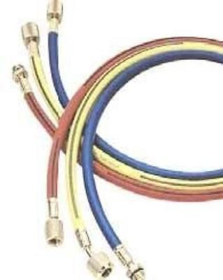 """Mastercool 83602 R1234yf 60/"""" Yellow Hose With Built In Shut-off"""
