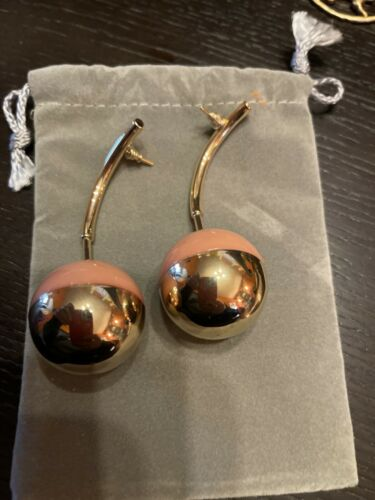 Marni Resin Drop Earrings-blush Color