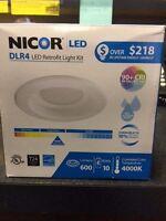 Dlr4-3006-120-4k-wh Nicor Drl4 Led Retrofit Light Kit (new)