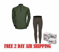 Hecs Base Layer Suit Pants & Shirt Green Assorted Sizes