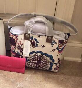 c8700dc50498 NWT Tory Burch RORY PRINTED MINI TOTE Happy Times Handbag Bag Flower ...