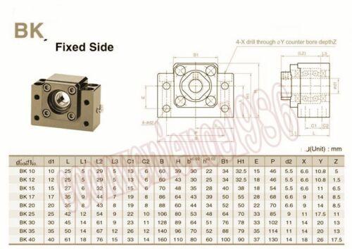 2 ensembles HSR20CA-1300mm Linear Rail /& RM1610-1300 mm Module /& Kit BK12//BF12