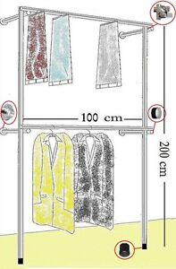 Begehbarer Kleiderschrank Kleiderstange Garderobe Metall