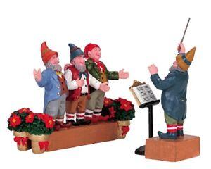 LEMAX CHRISTMAS VILLAGE ELVES SINGING LOT 211 NIB