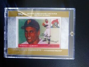 Details About Roberto Clemente 2013 Topps Manufactured Rookie Card Silk Patch Rcp 3 Pirates