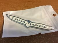 Trailhawk Trail Hawk White Badge For Jeep Cherokee Nameplate Emblem 3d
