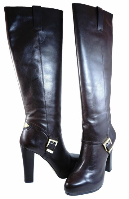 Michael Kors Womens Tamara Tall Pull On Buckle Fashion Knee High Boots