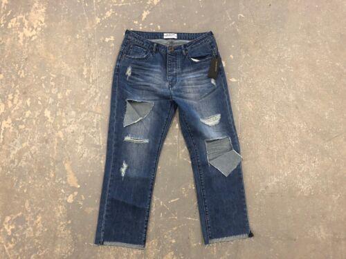 Jeans Teaspoon Women's Straight One Crop Size Nwt Hooligans Cult Blue 26 qP7tx