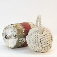 Creative Co-op DE1586 Nautical Rope Knot Door Stop White