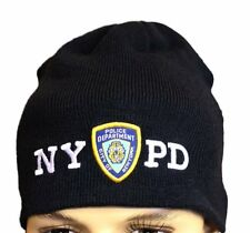 Navy NYPD No Fold Winter Hat Beanie Skull Cap Officially Licensed New York NYC