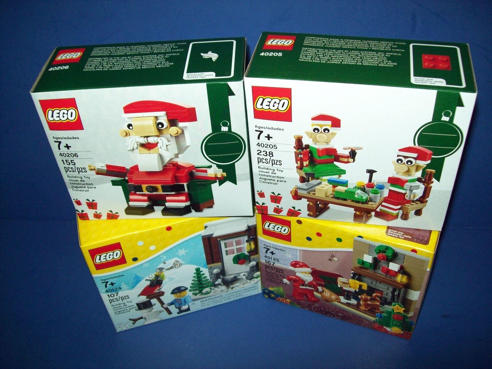 LEGO Christmas Holiday Lot 40205 40206 40124 40125 Winter Fun Santa Visit Elf