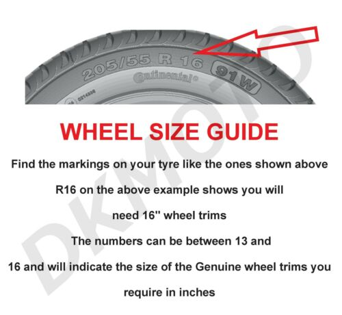 "16/"" Whell trims wheel covers fit Renault Trafic 4x16/'/' inches gunmetal"