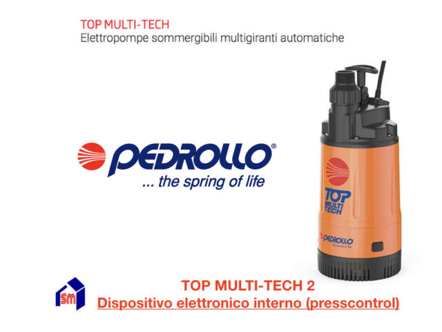 Elettropompa Pedrollo TOP MULTI-TECH 2 con presscontrol Pompa HP 0,75 sommersa