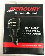Mercury Service Manual 115/135/150/175/175 Pro XS & 2 5 L