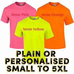 Neon Super Bright Yellow Pink Orange Club 80's Party Fancy ...