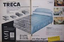 PUBLICITÉ DE PRESSE 1962 VOTRE ENSENBLE TRÉCA MATELAS SOMMIERS - ADVERTISING