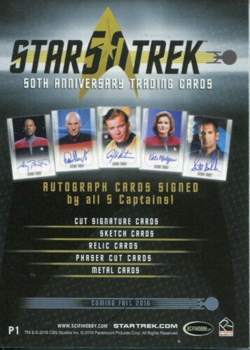 Promo Card P1 General Distribution 2017 Star Trek 50th Anniversary