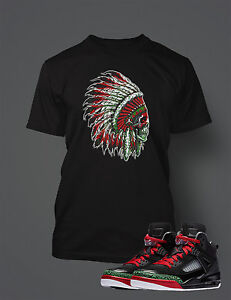 Chieftan-T-Shirt-to-Match-Air-Jordan-Jordan-Spizike-Shoe-Men-039-s-Graphic-Tee