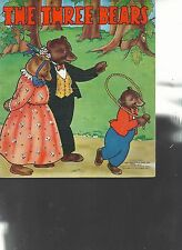 The Three Bears Goldilocks Children's Picture Book Saalfield Publishing 1940