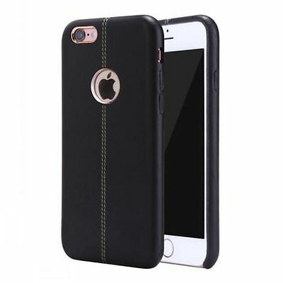 New Vorson Double Stitch Leather Shell Back Case for Apple iPhone 6/ 6S BLACK
