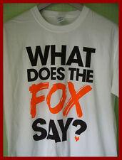 Ylvis/? qué dice el Zorro-t-shirt Gráfico (S) (M) (XL) Nuevo Y Sin Uso