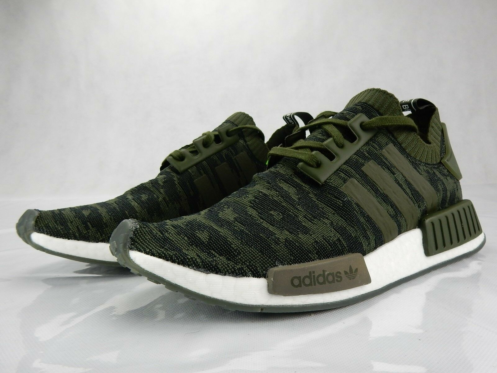 save off faa1e f2c23 Adidas NMD R1 Night Night Night Cargo Glitch Green CQ2445 Mens S Shoes Size  10 New Sneakers