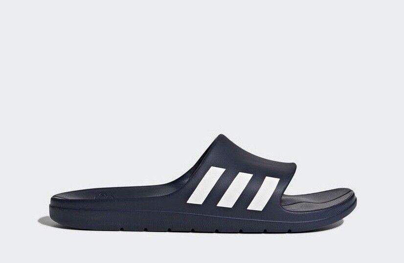 Adidas Men's Aqualette Slides Sandals Beach CG3537 Shoes Flip Flops - CG3537 Beach - Navy 62564e