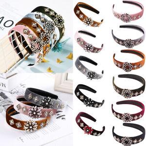 Ladies-Baroque-Embellished-Headband-Hairband-Crystal-Crown-Tiara-with-Jewellery