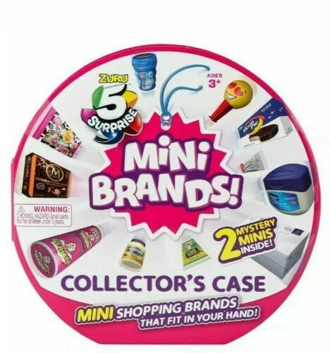 ZURU MUST HAVE!! 5 SURPRISE MINI BRANDS COLLECTOR CASE WITH 2 MINI BRANDS
