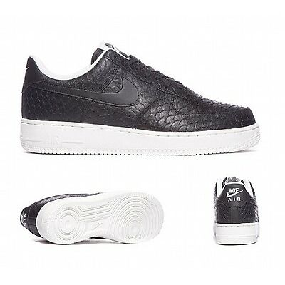 Nike Air Force 1 07 LV8 Trainers - Black/White 718152 012 - UK 6, 7, 7.5, 8, 9