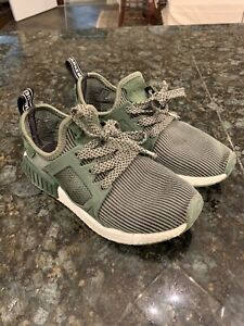 Adidas-NMD-XR1-Boys-Youth-Kids-Olive-Green-Boost-Running-Shoes-Sneakers-GU-5