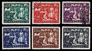 1947 PORTUGAL #683-88 SURRENDER OF THE MOORS - MOGHR - VF - CV$38.00 (ESP#1903)