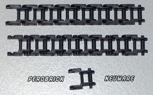Lego Technic Technik 25 x Kettenglied schmal schwarz Kettenglieder #3711 NEUWARE