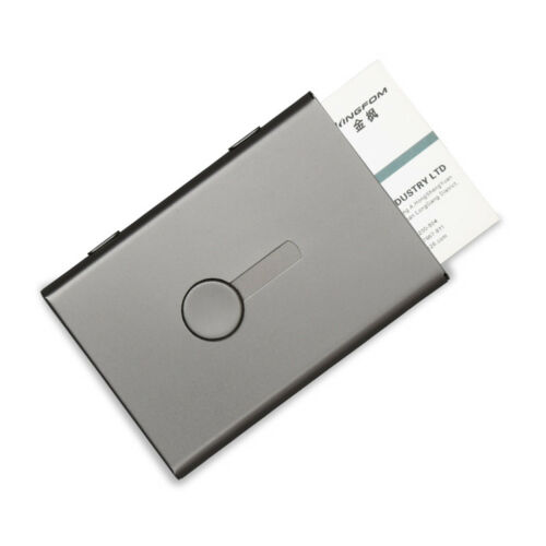 Stainless Steel Business Card Case Thumb-Drive Business Name Card Holder