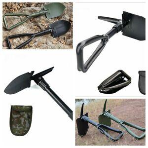 PORTABLE ARMY MILITARY FOLD SPADE SHOVEL PICK AXE CAMPING METAL DETECTING TOOL