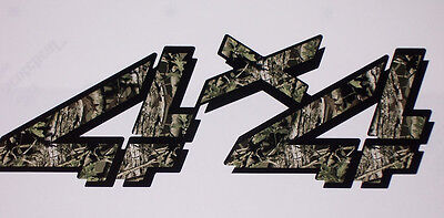 4X4 4 2 color mossy oak Camo Black Bed Decals decal Chevy GMC 1500 2500 3500 Ram
