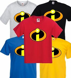 Los-Increibles-Super-Heroe-Camiseta-Hombres-Ladys-tamano-adulto-varios-colores