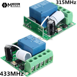 Details about 12V 315/433MHz 1 Channel Wireless Relay Switch RF Remote  Control Receiver