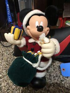 Christmas-Disney-Mickey-Mouse-1998-Santa-039-s-Best-Holiday-Animation-Ornament