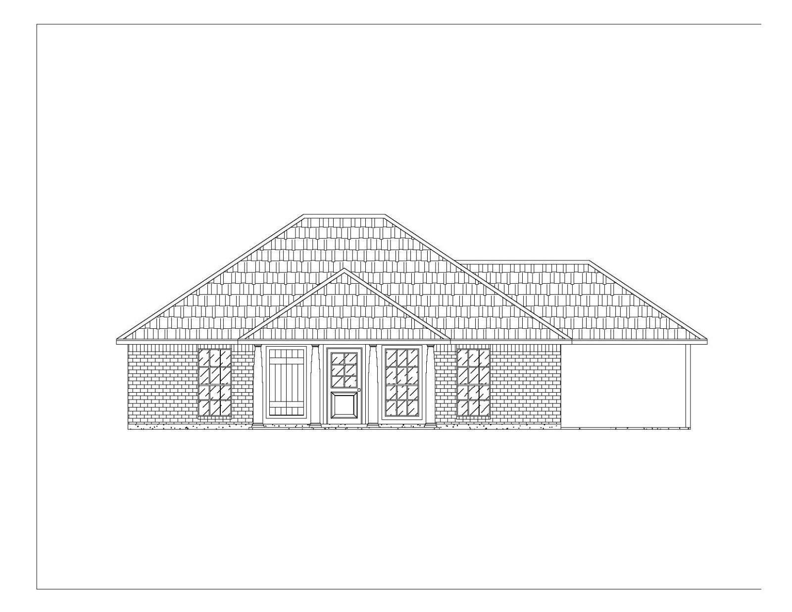 CAD DWG, and PDF files for Custom Home House Plan 1,195 SF Blauprint Plans