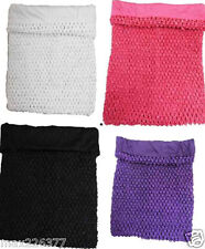 """NEW Girls 12"""" 10"""" 7""""  Lined Crochet Tutu Top tube Many Colors ?? size 2 - 10 yrs"""