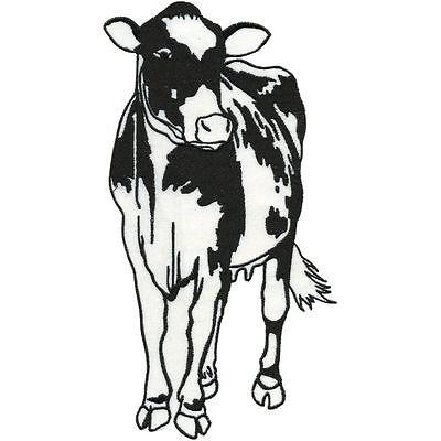 Aufnaeher Applikation Stickemblem Patch 8 x 5 cm Rinder Kuehe Kuh 00946