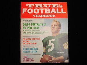 1962 True's Football Yearbook - Paul Hornung Cover