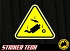 WARNING PARTS FALL OFF STICKER DECAL SIGN SUITS DRIFT DRAG RAT ROD RACE RALLY V8