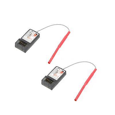2 X Original FlySky FS-R6B 6CH 2.4Ghz Receiver for FlySky TH9X FS-CT6B FS-T6