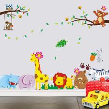 Design B-GIRAFFE / Monkey / RABIT / GUFO Bimbo / Kid Nursery parete Adesivo Decalcomania