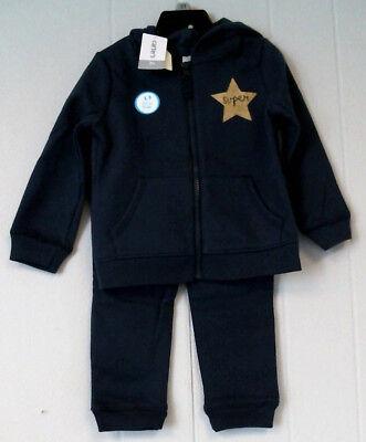 NWT Carters Girls Pink Hooded Jacket /& Sweat Pants Set Size 18 M