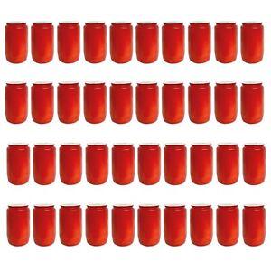 40x-Premium-Ollicht-T3-Rot-Kompositions-Friedhofskerze-Grabkerze-Dauerbrenner