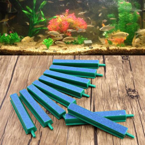 """10x 4/"""" Fresh Air Stone Airstone Bubble Bar with Plastic Frame for Aquarium"""